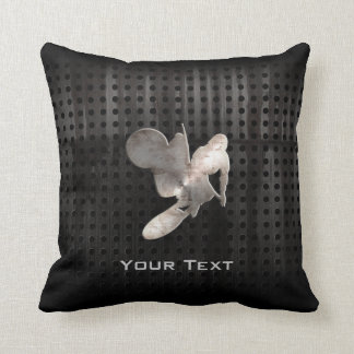 Motocross Whip; Cool Black Throw Pillow