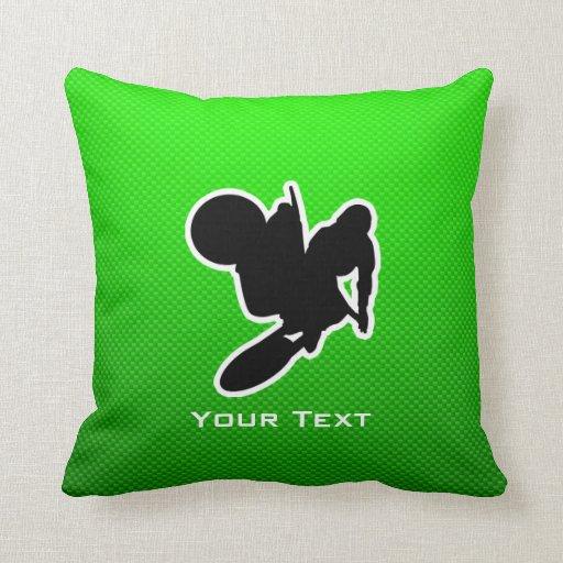 Motocross Whip Throw Pillows