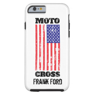 Motocross with USA Flag Grunge Iphone 6/6s + Case