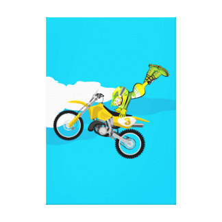Motocross young demonstrates to be the best canvas print