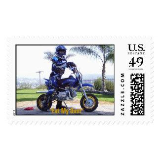 "MotocrossDevin(1), ""Eat My Dust"" Postage Stamps"