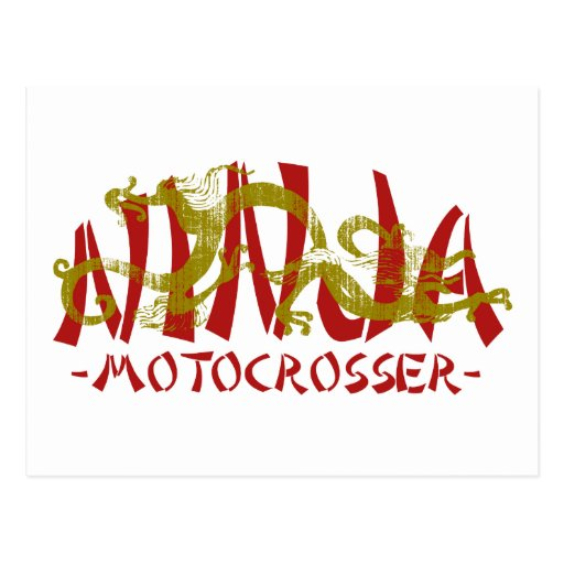 Motocrosser Dragon Ninja Postcard