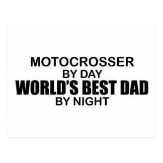 Motocrosser - el mejor papá del mundo por noche tarjetas postales