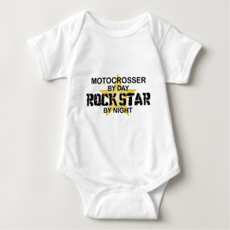 Motocrosser Rock Star by Night Baby Bodysuit