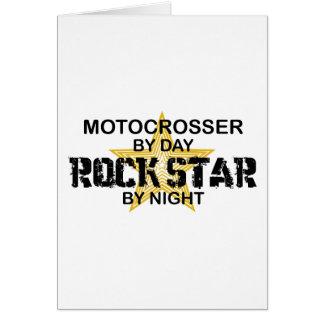 Motocrosser Rock Star by Night Greeting Card