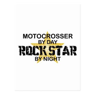 Motocrosser Rock Star by Night Post Card