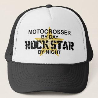 Motocrosser Rock Star by Night Trucker Hat
