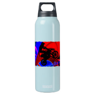 Motocrossing Going Loopy Insulated Water Bottle