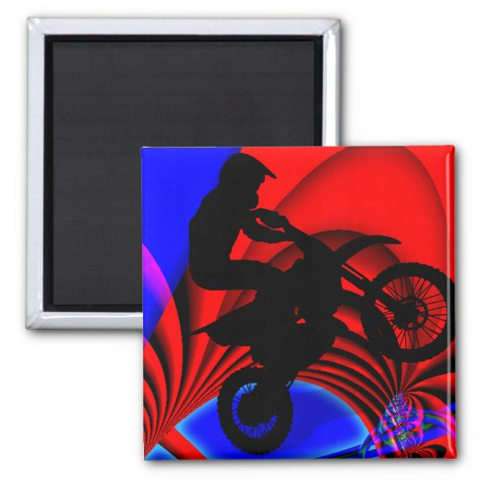 Motocrossing Going Loopy Magnet