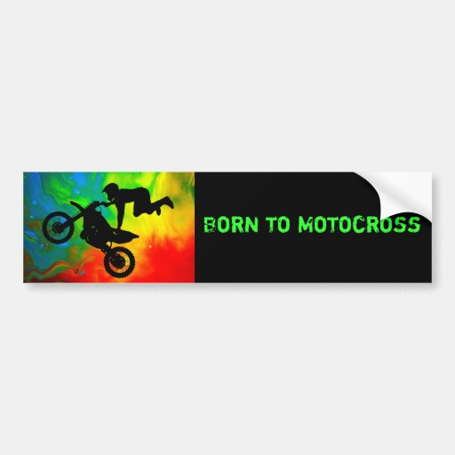 Motocrossing in a Solar Flare Up Car Bumper Sticker