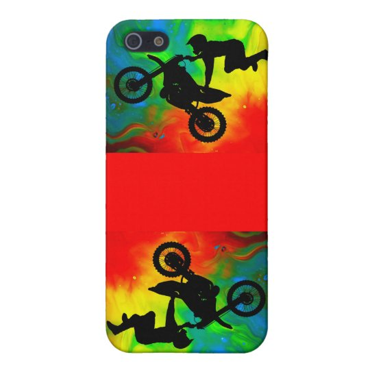 Motocrossing in a Solar Flare Up Case For iPhone SE/5/5s
