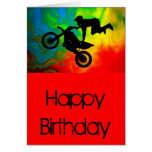 Motocrossing in a Solar Flare Up Greeting Card