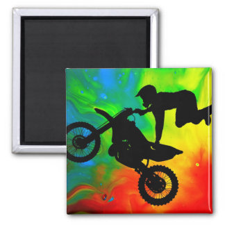Motocrossing in a Solar Flare Up Magnet