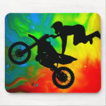 Motocrossing in a Solar Flare Up Mousepad