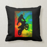 Motocrossing in a Solar Meltdown Pillow