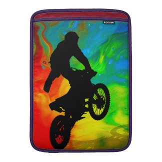 Motocrossing in a Solar Meltdown Sleeve For MacBook Air