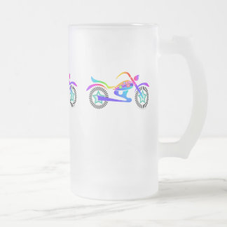 MOTOCYCLE FROSTED MUG Tall by PopArtDiva