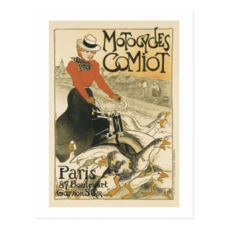 Motocycles Comiot By Theophile-Alexandre Steinlen Postcard