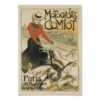 Motocycles Comiot de Theophile-Alejandro Steinlen Poster