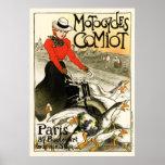 Motocycles Comiot, Steinlen Poster