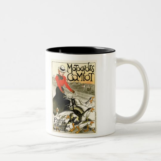Motocycles Comiot, Steinlen Two-Tone Coffee Mug