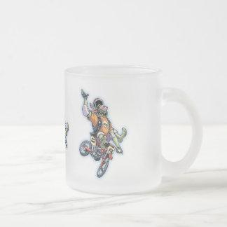 Motogross Frosted Glass Coffee Mug