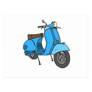 Motoneta azul (Vespa) Postal