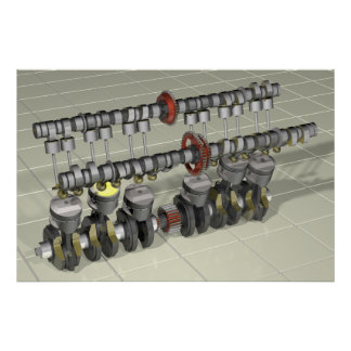 Motor 1000 de la motocicleta de CBX Póster