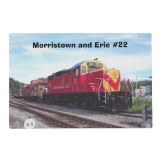 Motor #22 del ferrocarril de Morristown y de Erie Tapete Individual