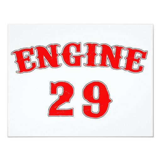 """motor 29 invitación 4.25"""" x 5.5"""""""
