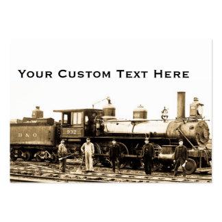 Motor 932 del ferrocarril de B&O Plantilla De Tarjeta De Negocio