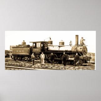Motor 932 del ferrocarril de Baltimore y de Ohio Poster