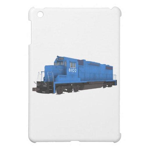 Motor azul del tren: