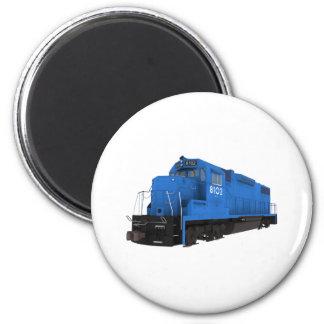 Motor azul del tren: imán redondo 5 cm