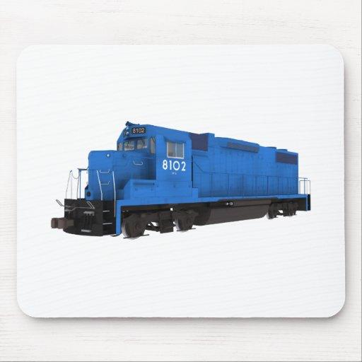 Motor azul del tren: tapete de ratones