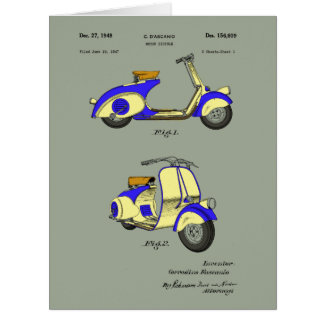 Motor Bicycle Patent Circa 1949- Blue Card
