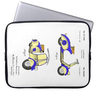 Motor Bicycle Patent Circa 1949- Blue Computer Sleeve
