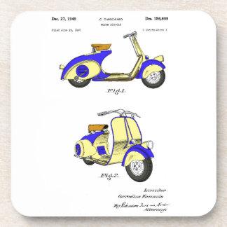 Motor Bicycle Patent Circa 1949- Blue Drink Coaster