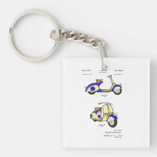 Motor Bicycle Patent Circa 1949- Blue Keychain