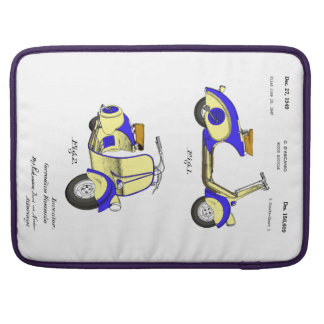 Motor Bicycle Patent Circa 1949- Blue Sleeve For MacBook Pro
