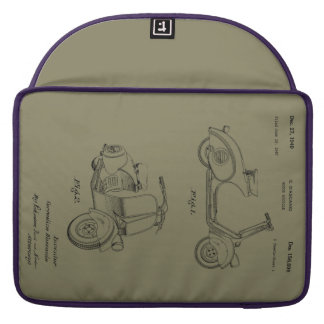 Motor Bicycle Patent Circa 1949- Line Drawing Sleeve For MacBook Pro