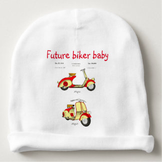 Motor Bicycle Patent Circa 1949- Red Baby Beanie
