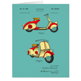 Motor Bicycle Patent Circa 1949- Red Card