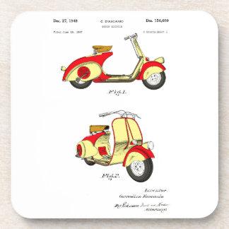 Motor Bicycle Patent Circa 1949- Red Coaster