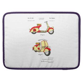 Motor Bicycle Patent Circa 1949- Red MacBook Pro Sleeve