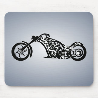motor-bike-531004 TRIBAL TATTOO MOTORBIKE TRANSPOR Mouse Pad
