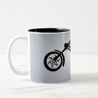 motor-bike-531004 TRIBAL TATTOO MOTORBIKE TRANSPOR Two-Tone Coffee Mug