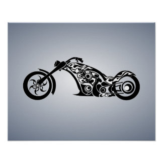 motor-bike-531004 TRIBAL TATTOO MOTORBIKE TRANSPOR Poster