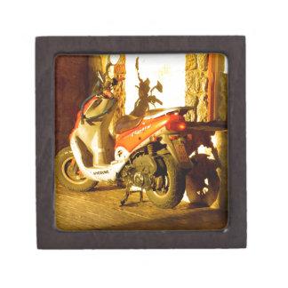 Motor Bike in Evening Sun Jewelry Box