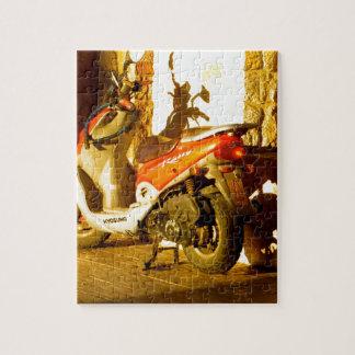Motor Bike in Evening Sun Jigsaw Puzzle